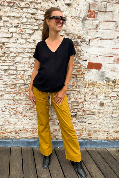 easy pocket trousers - mustard babycord