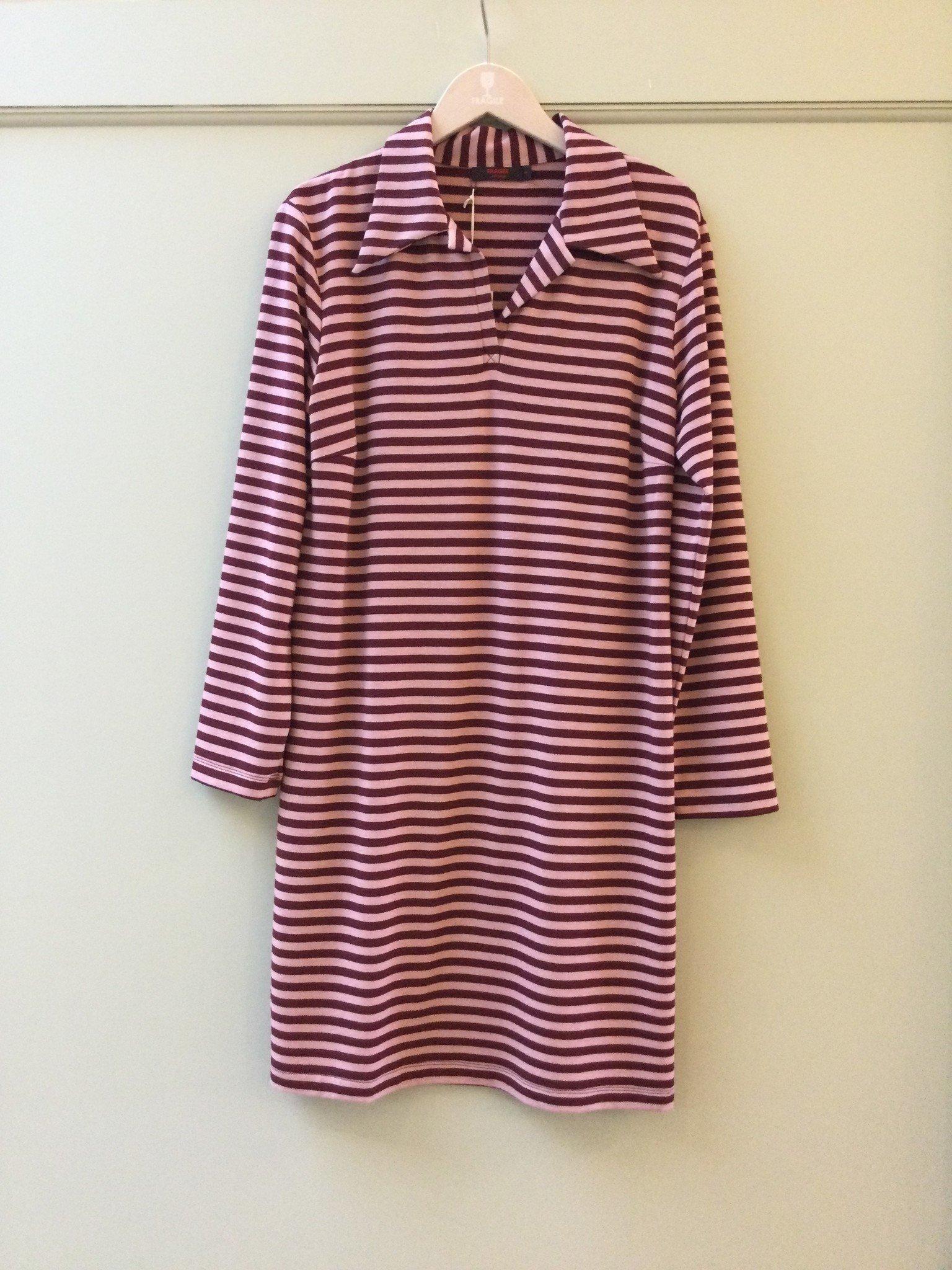 Polo dress - pink/amarone-2