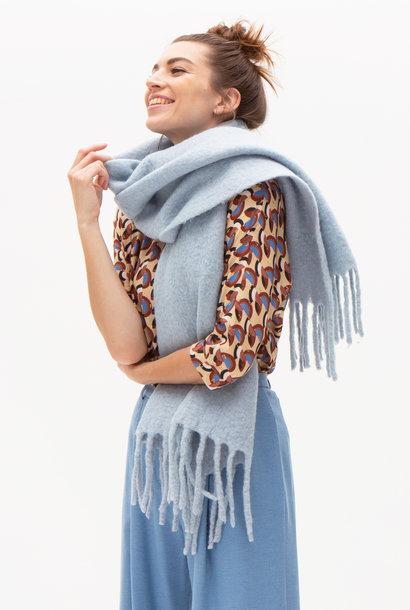 Cosy soft blue scarf