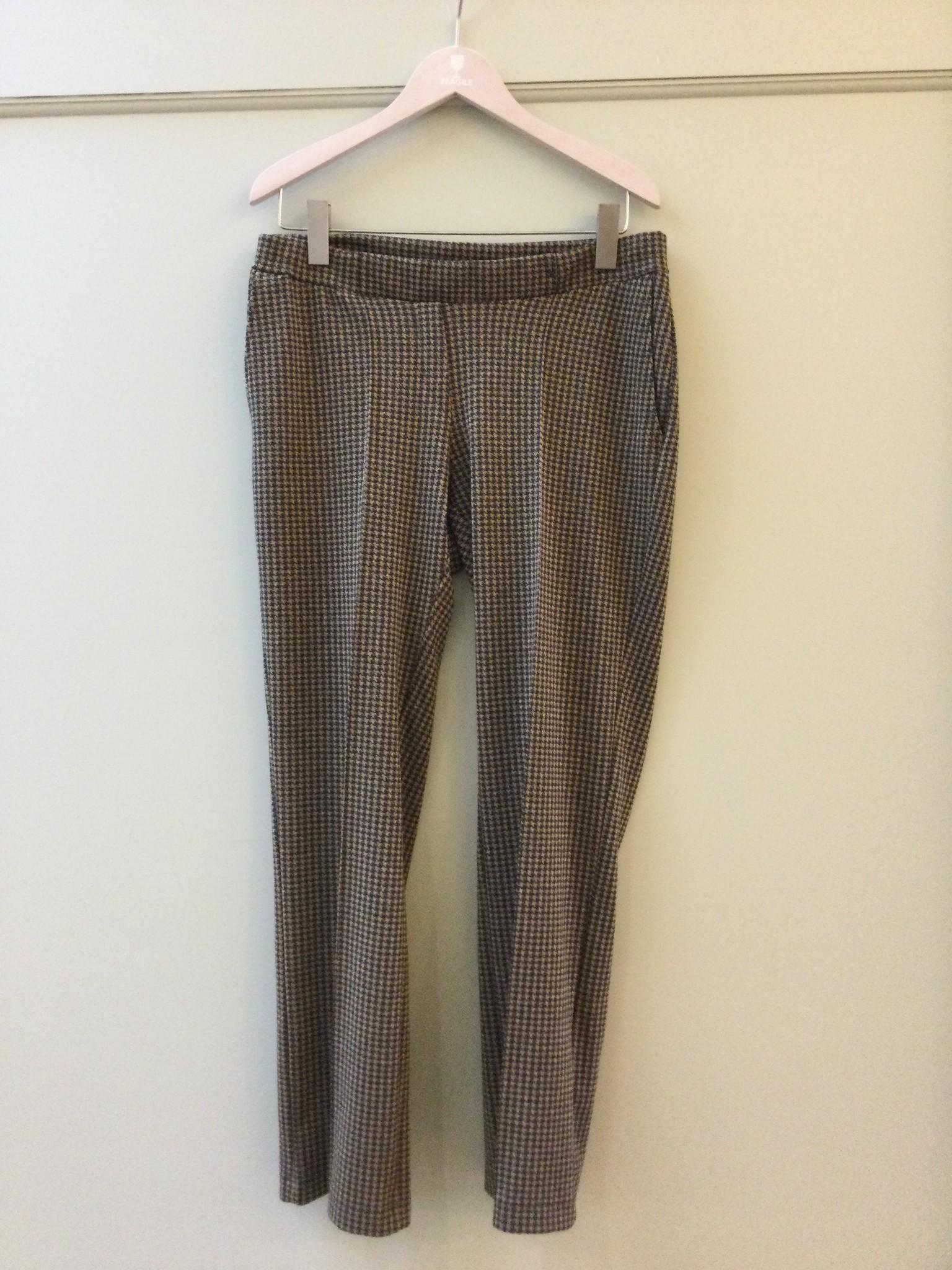 Easy trousers straight fit - black pied de poule-2