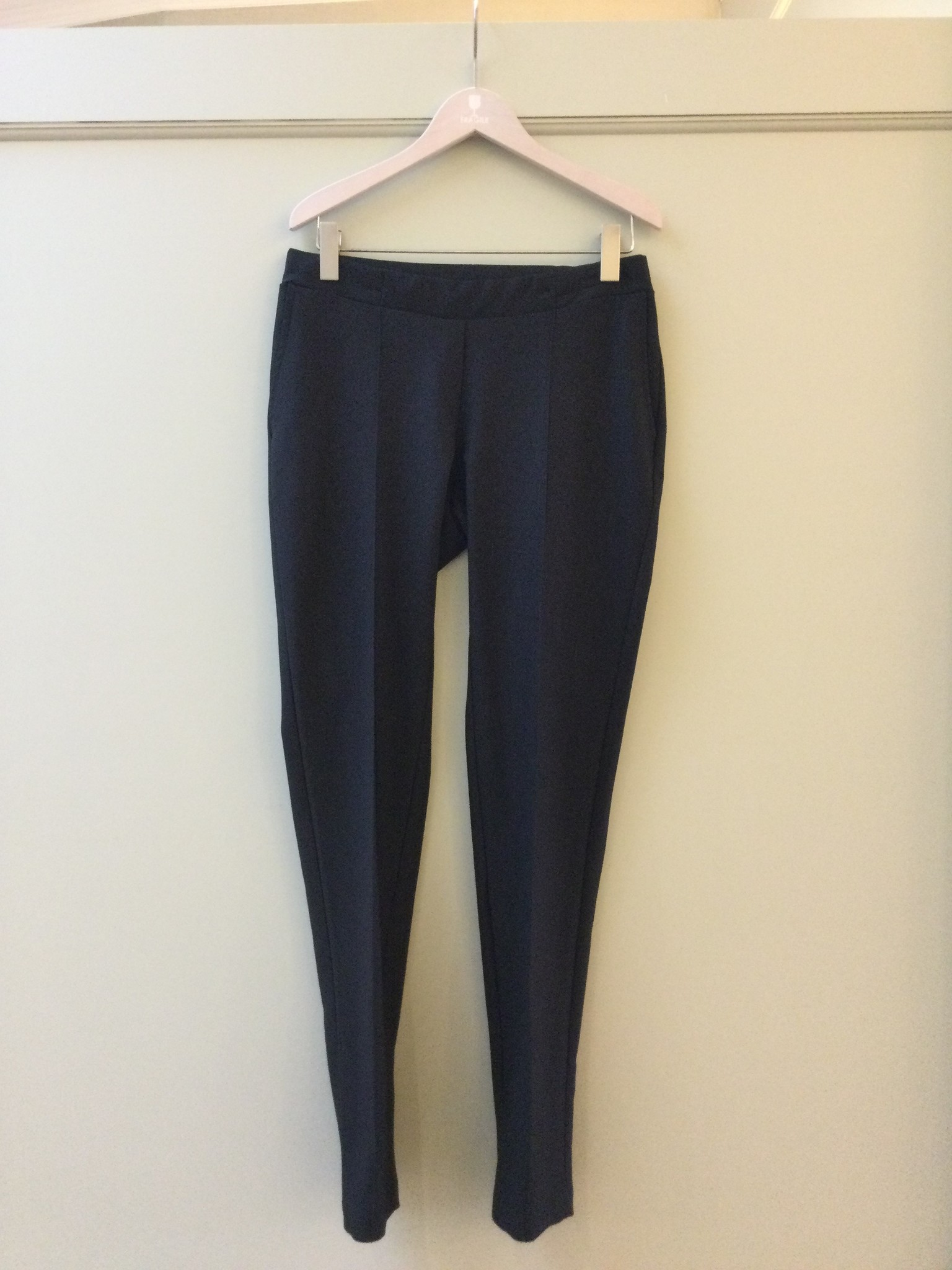 Easy trousers straight fit - black twill-1