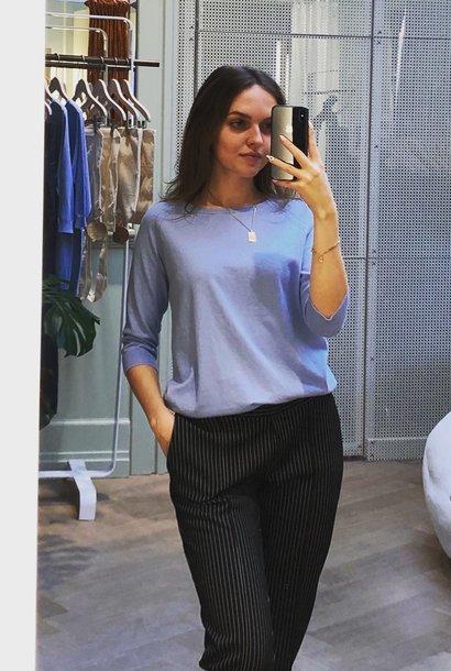 Easy trousers slim fit - black milano