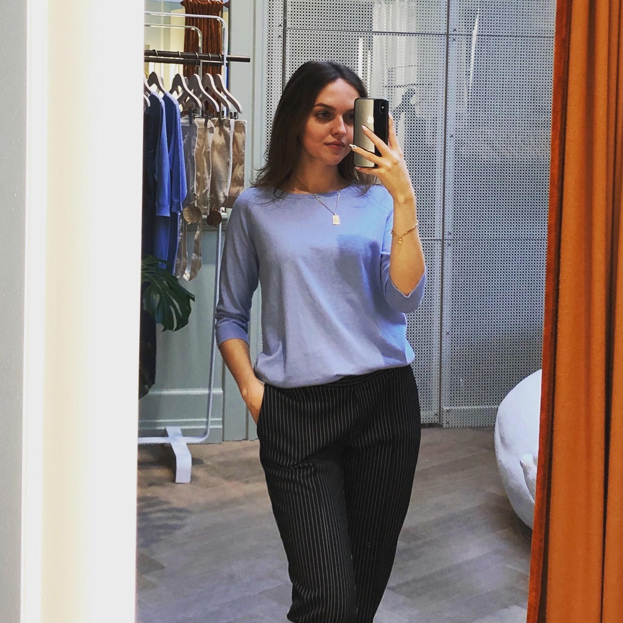 Easy trousers slim fit - black milano-1