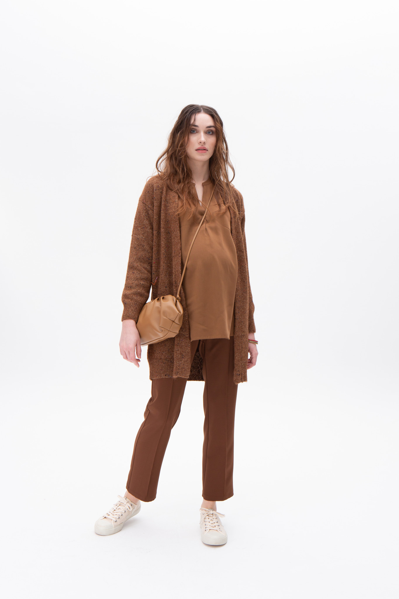 Easy trousers straight fit - brown twill-1