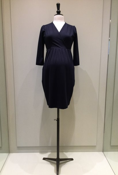 Comfy dress 7/8 sleeves - navy