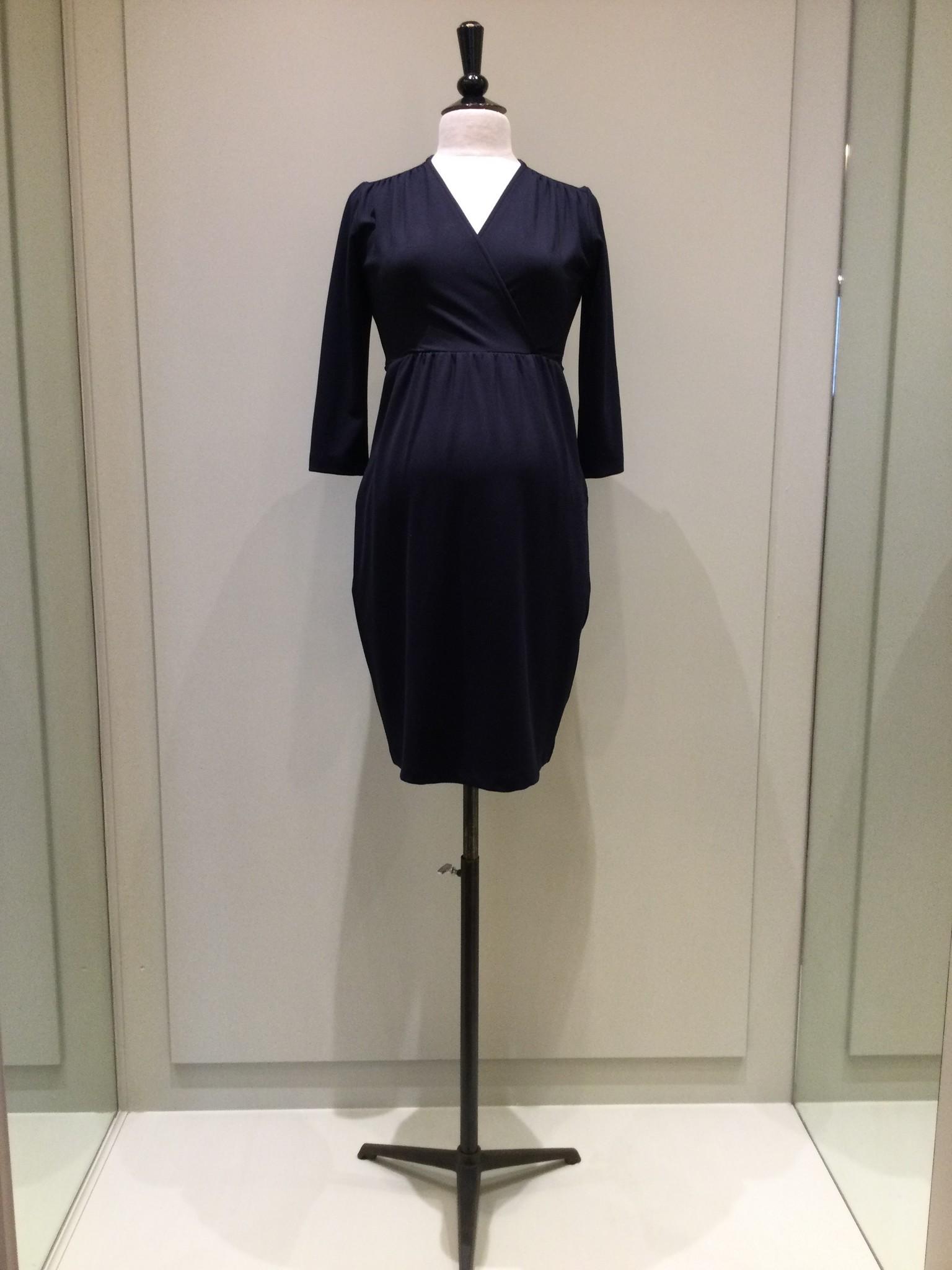 Comfy dress 7/8 sleeves - navy-1