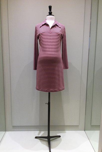 Polo dress - pink/amarone