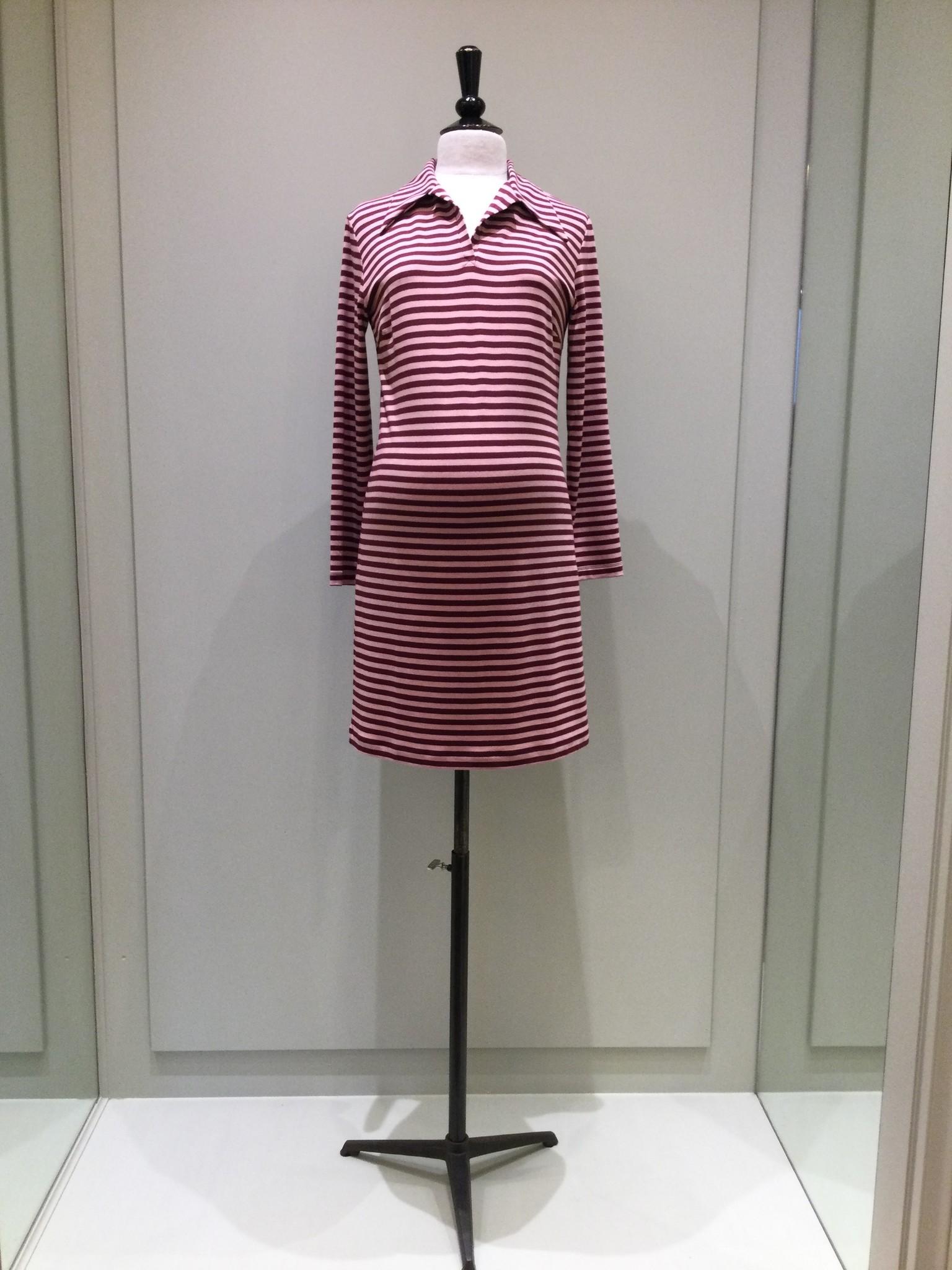 Polo dress - pink/amarone-1