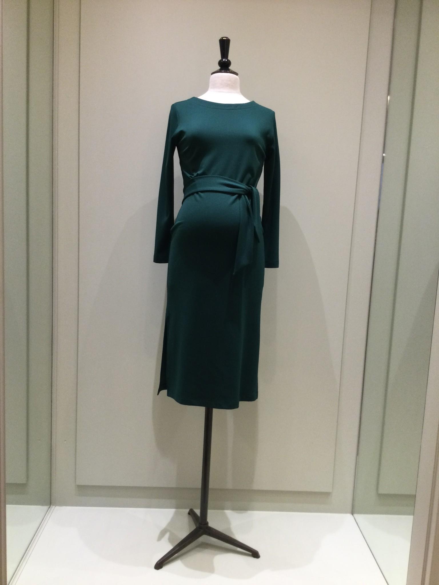 Classy dress - dark green-1