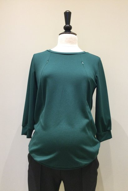 Zip sweater - dark green