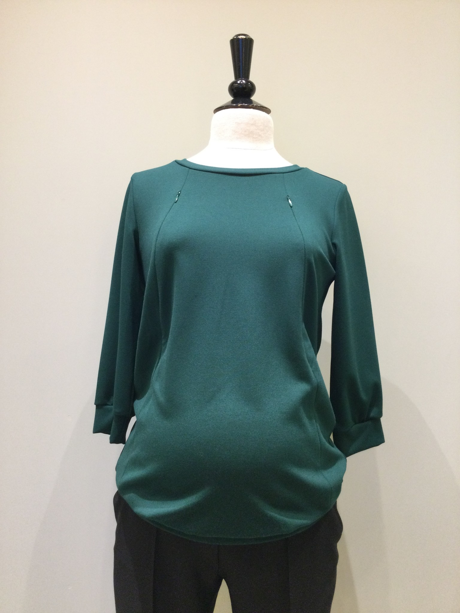 Zip sweater - dark green-1