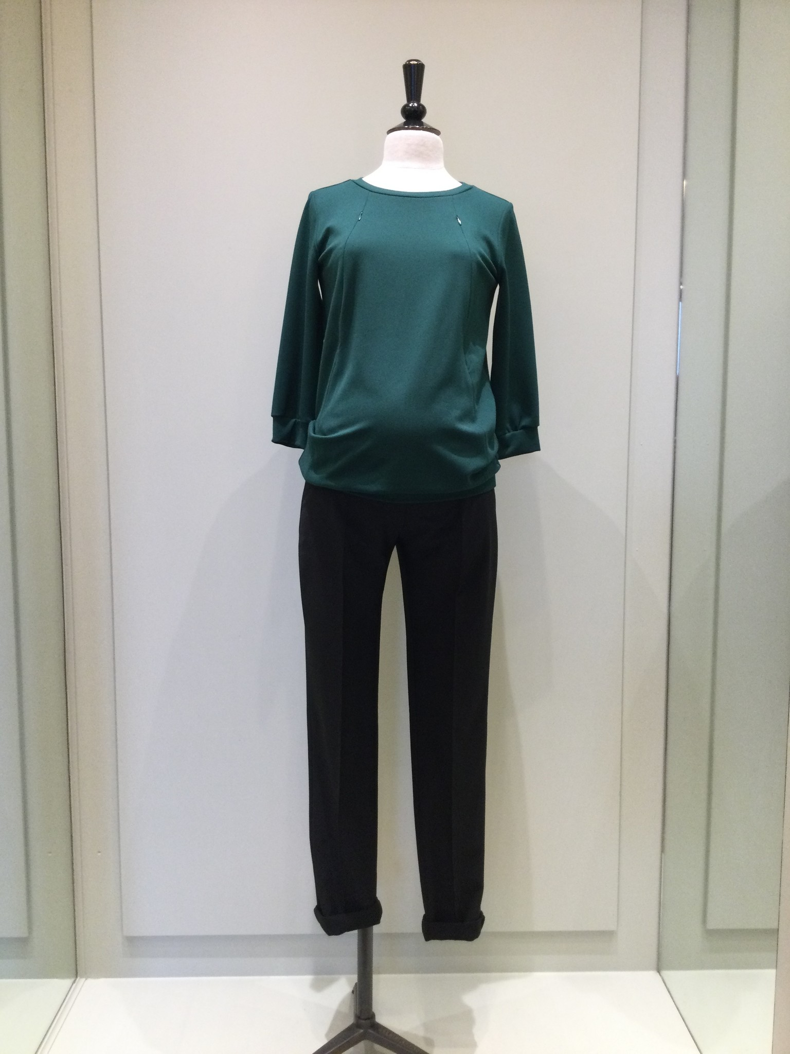 Zip sweater - dark green-2