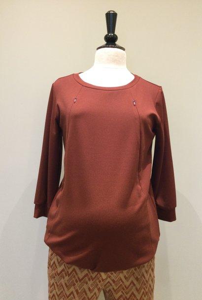 Zip sweater - keramic