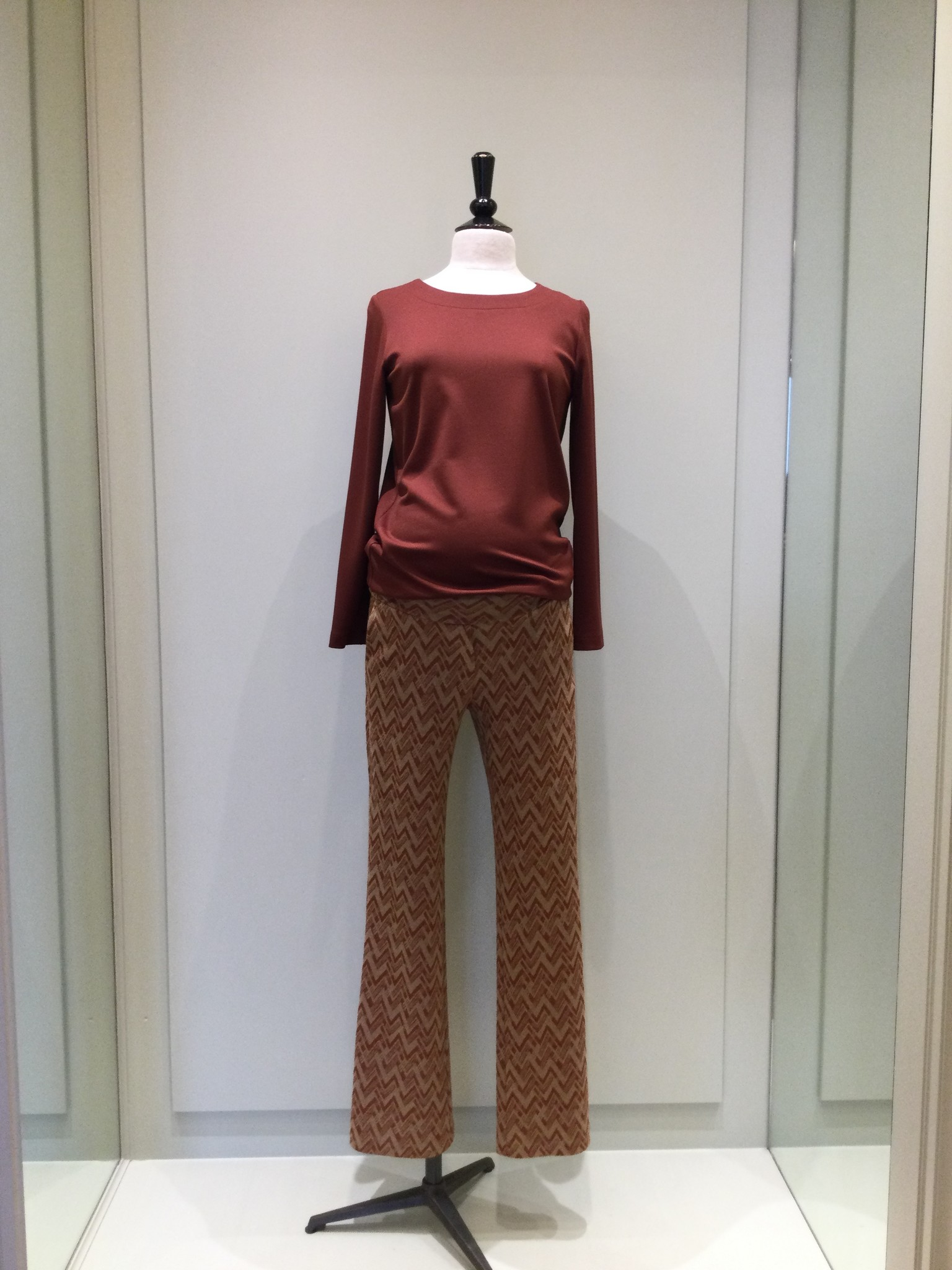 Seventies trousers - Rust zig zag-2
