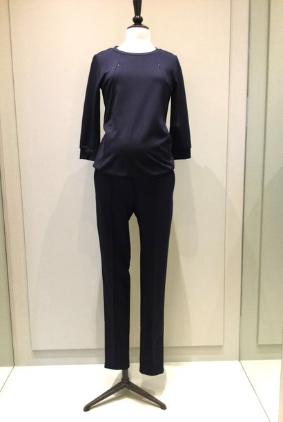 Easy trousers slim fit - navy twill