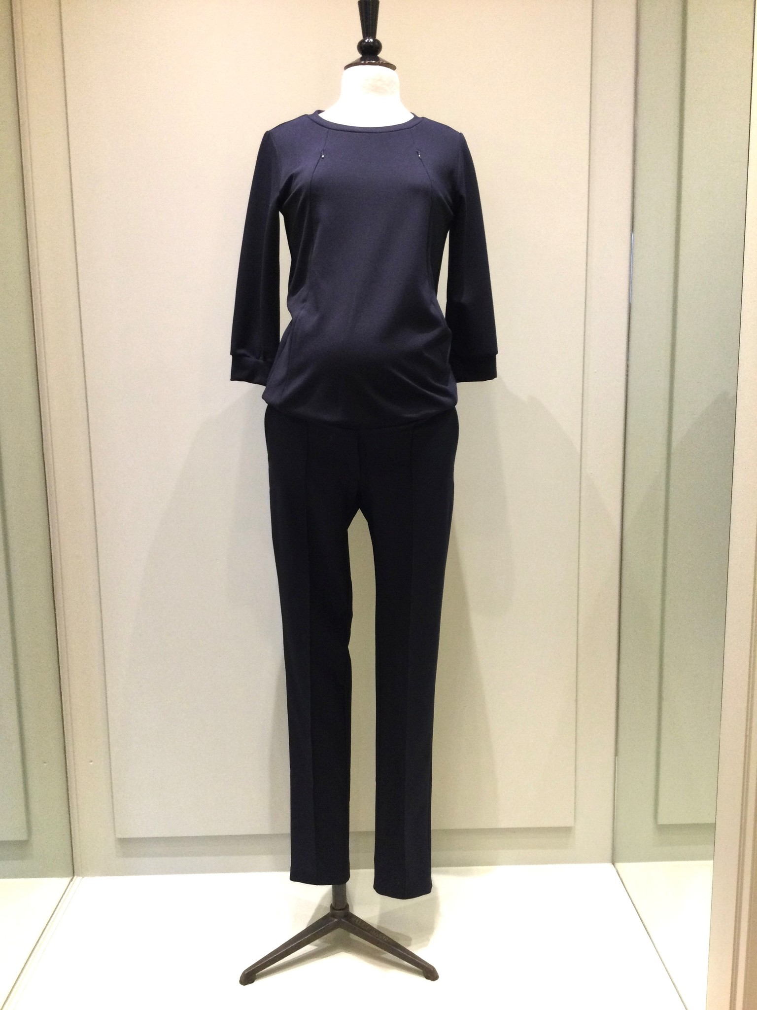 Easy trousers slim fit - navy twill-1