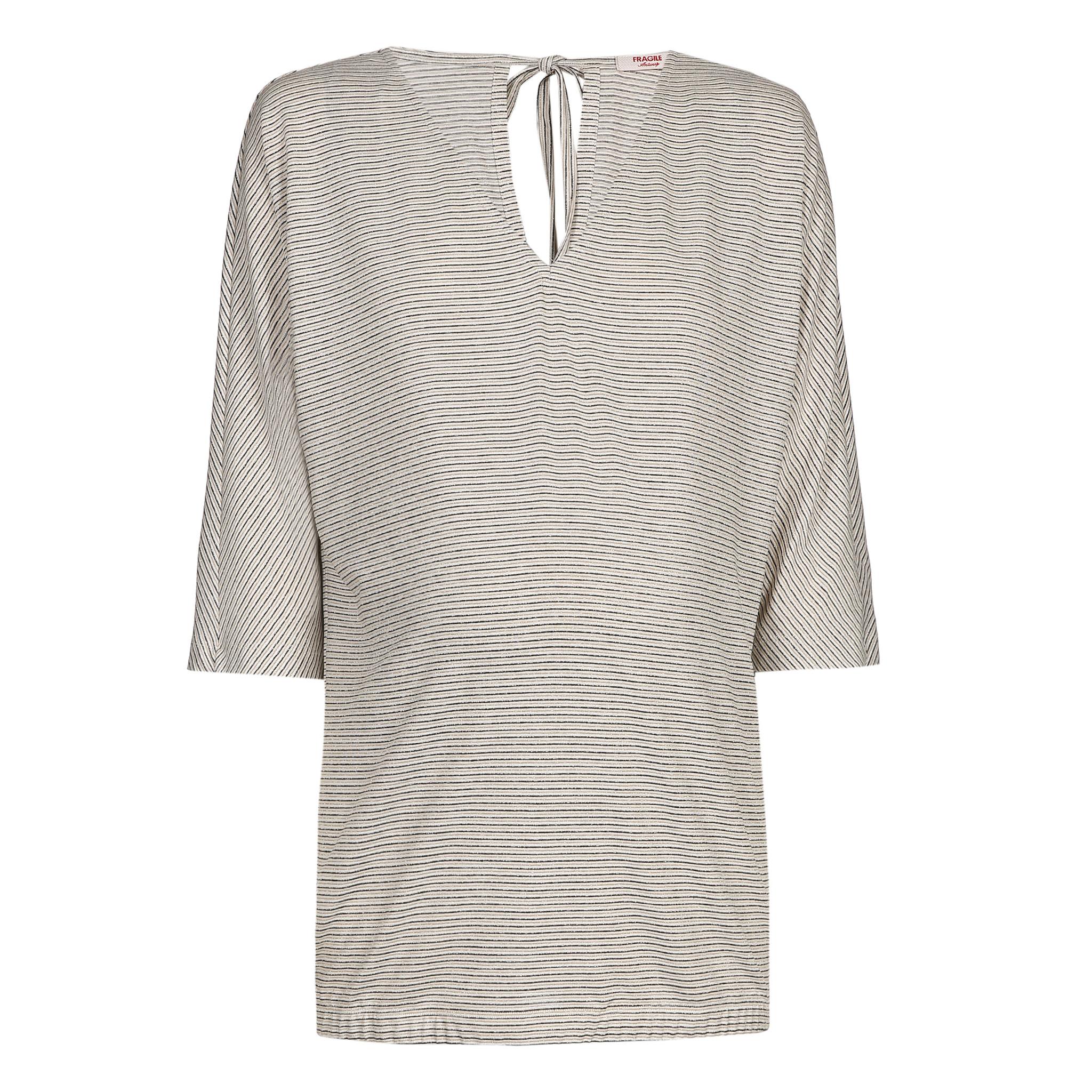 Tide Back T-Shirt Ecru Stripes-1
