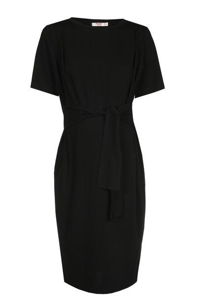 Belt Dress Short Sleeves Black