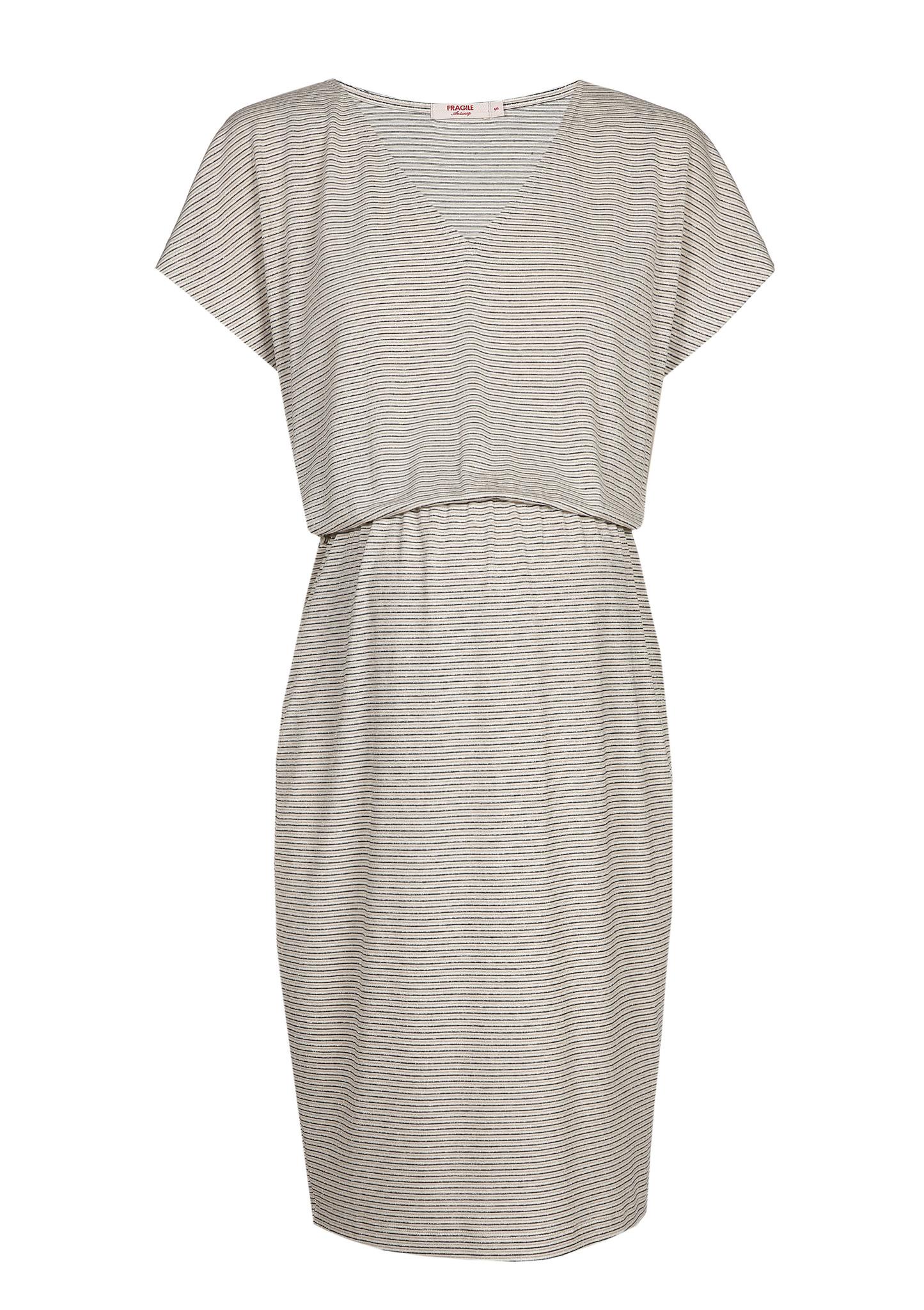 Blouson Dress Ecru Stripes-4