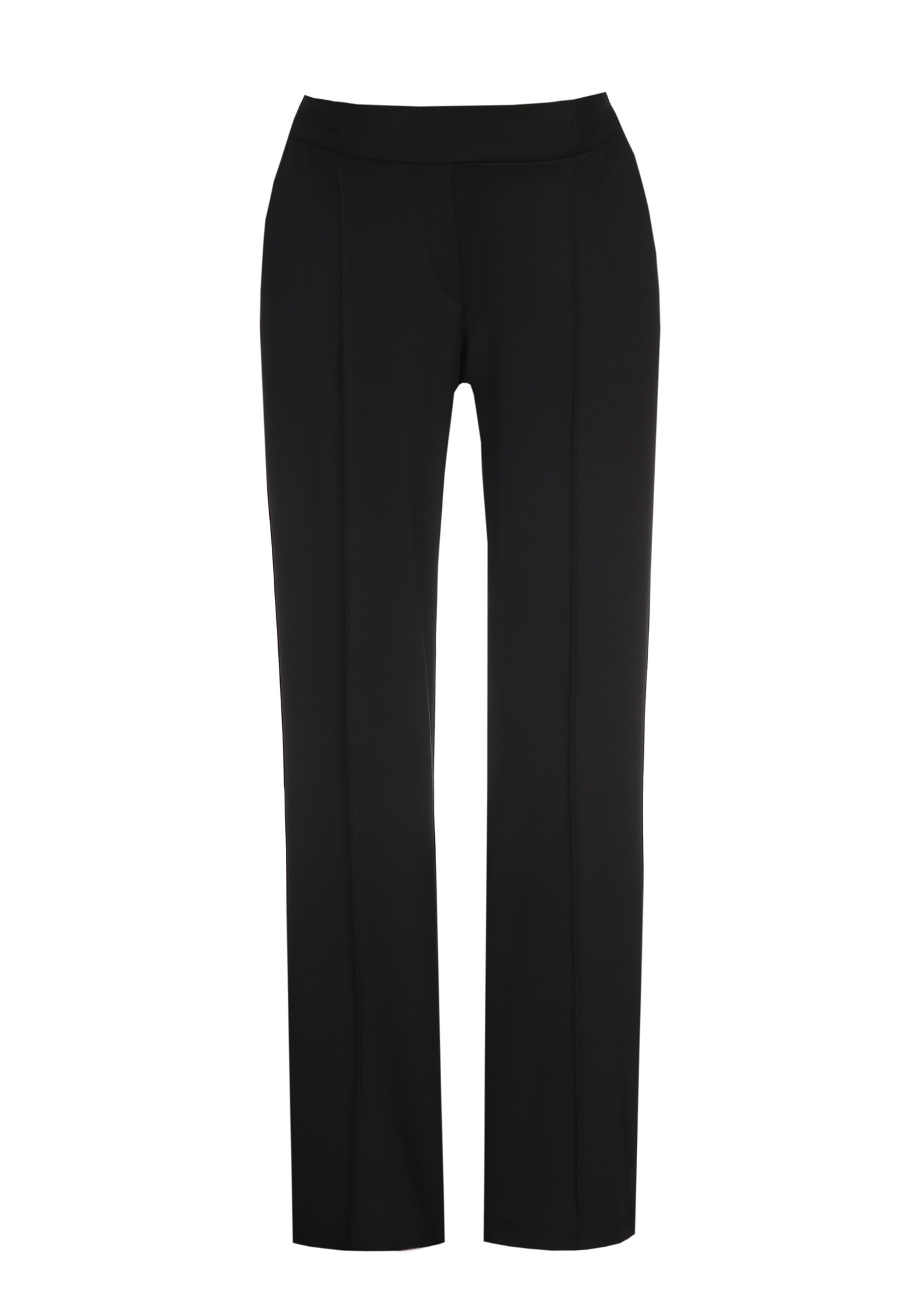 Easy Trousers Straight Fit Black-1