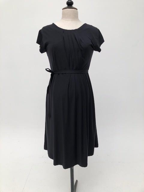 Pleated Dress Black-5