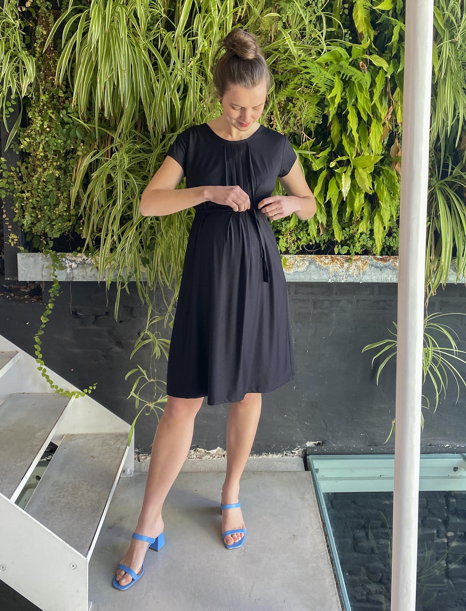 Pleated Dress Black-1