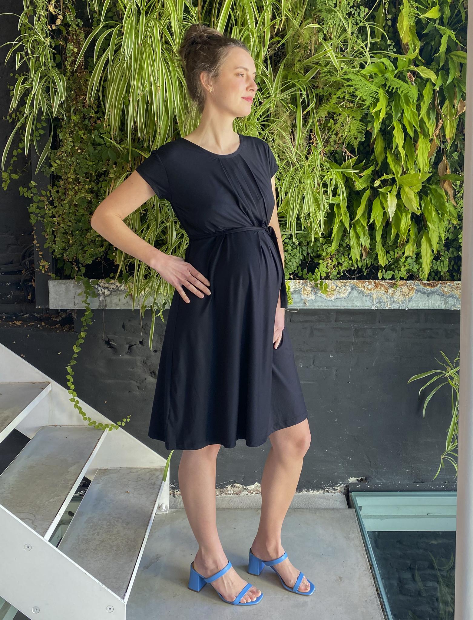 Pleated Dress Black-3