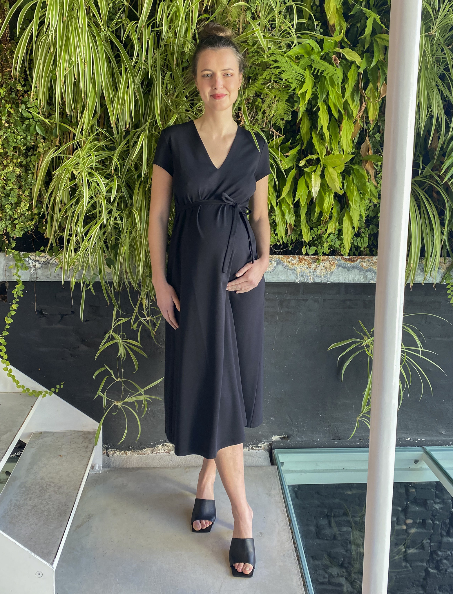 A-Line Dress Black-4