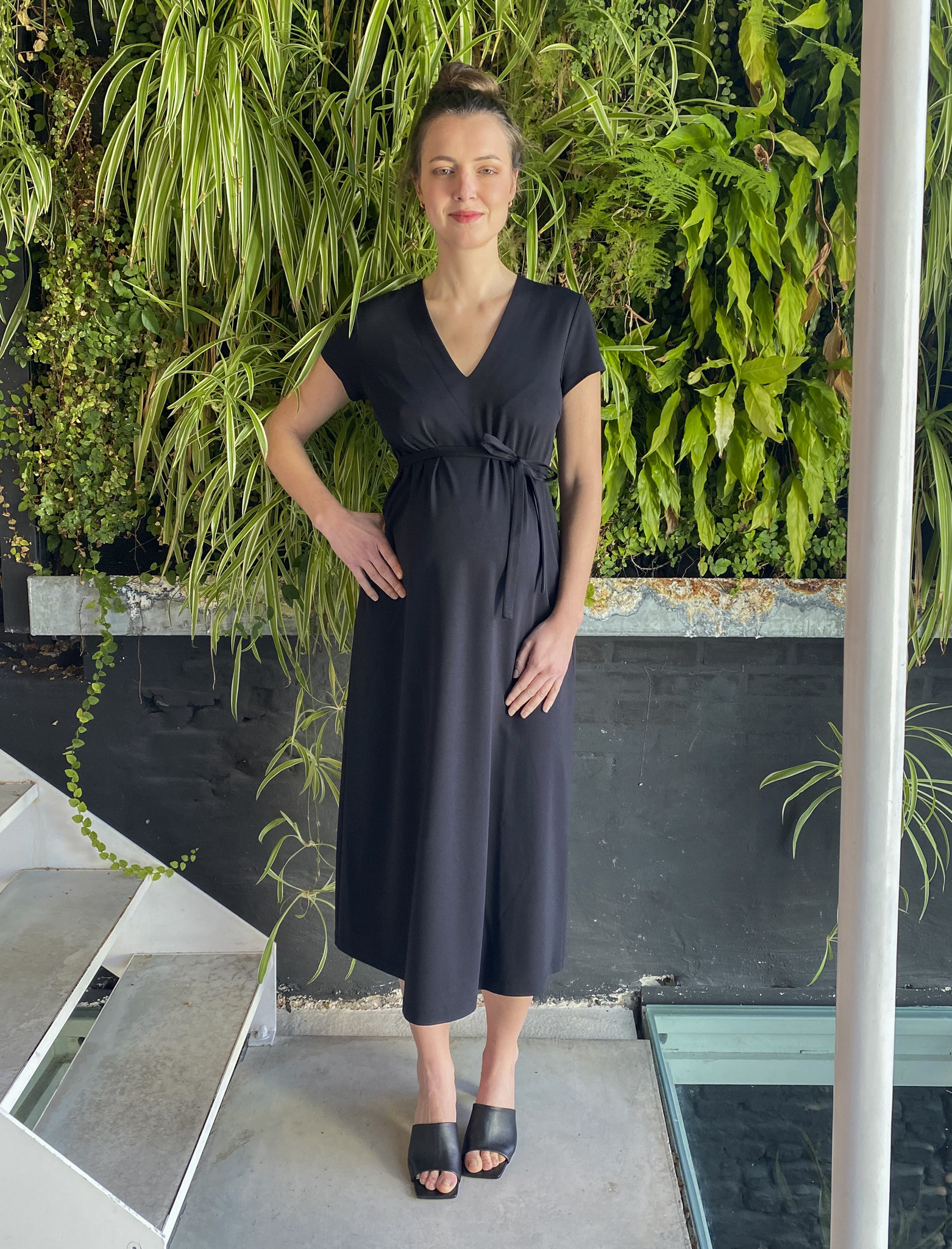 A-Line Dress Black-1