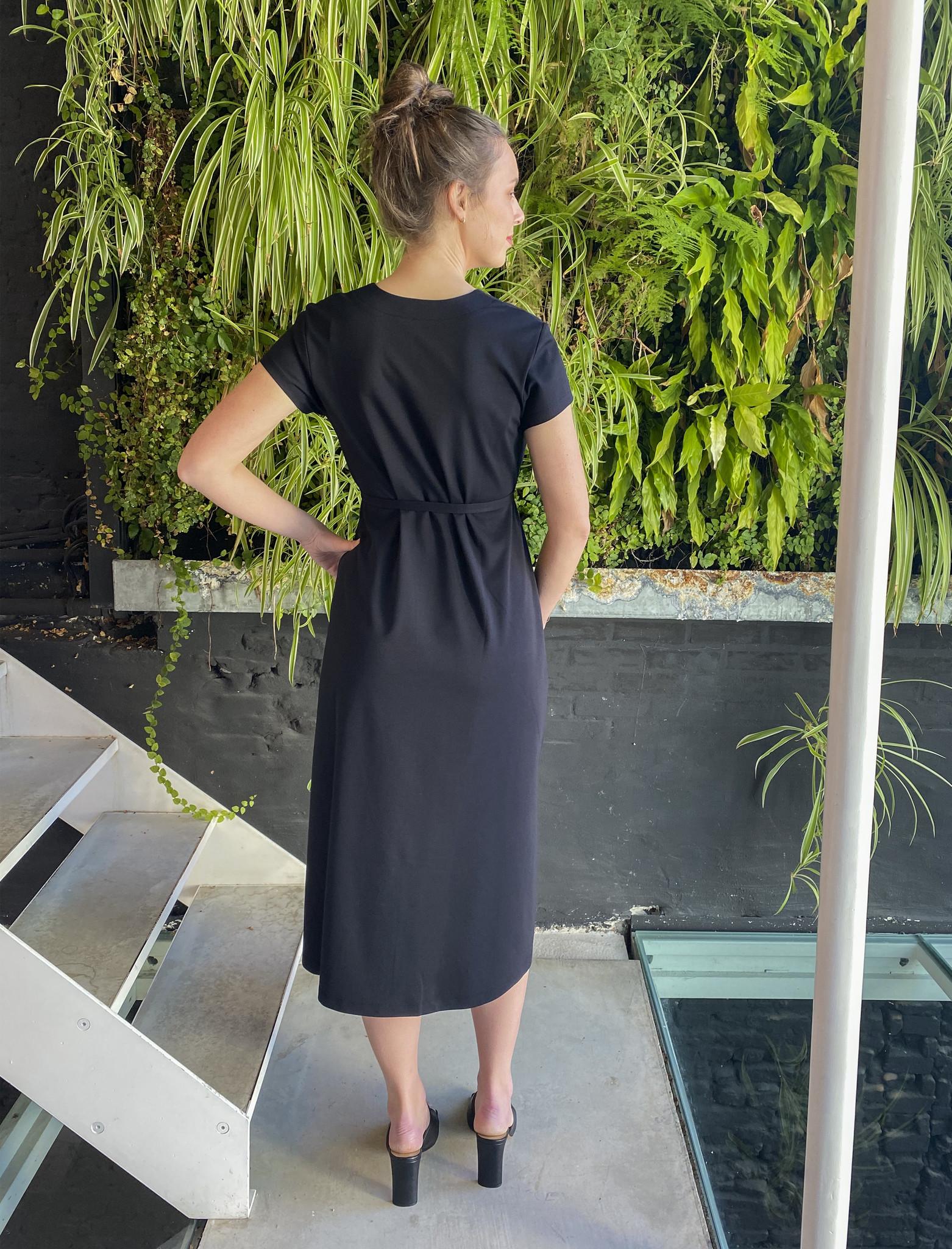 A-Line Dress Black-3
