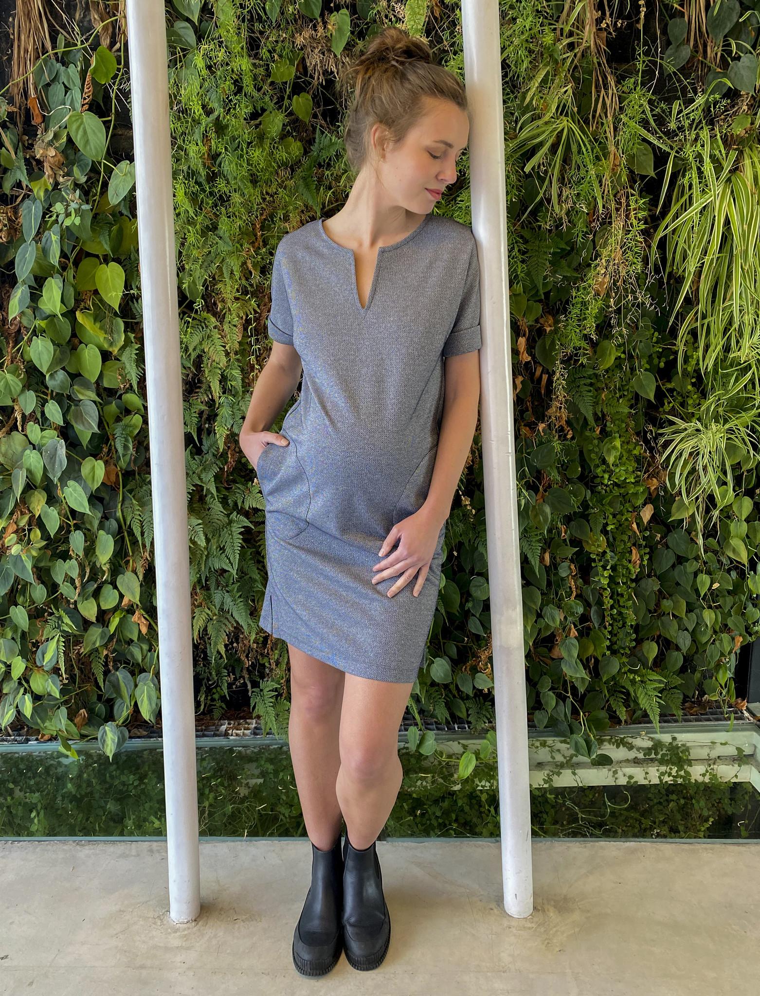 Round Pocket Dress Jeans Sparkle-2