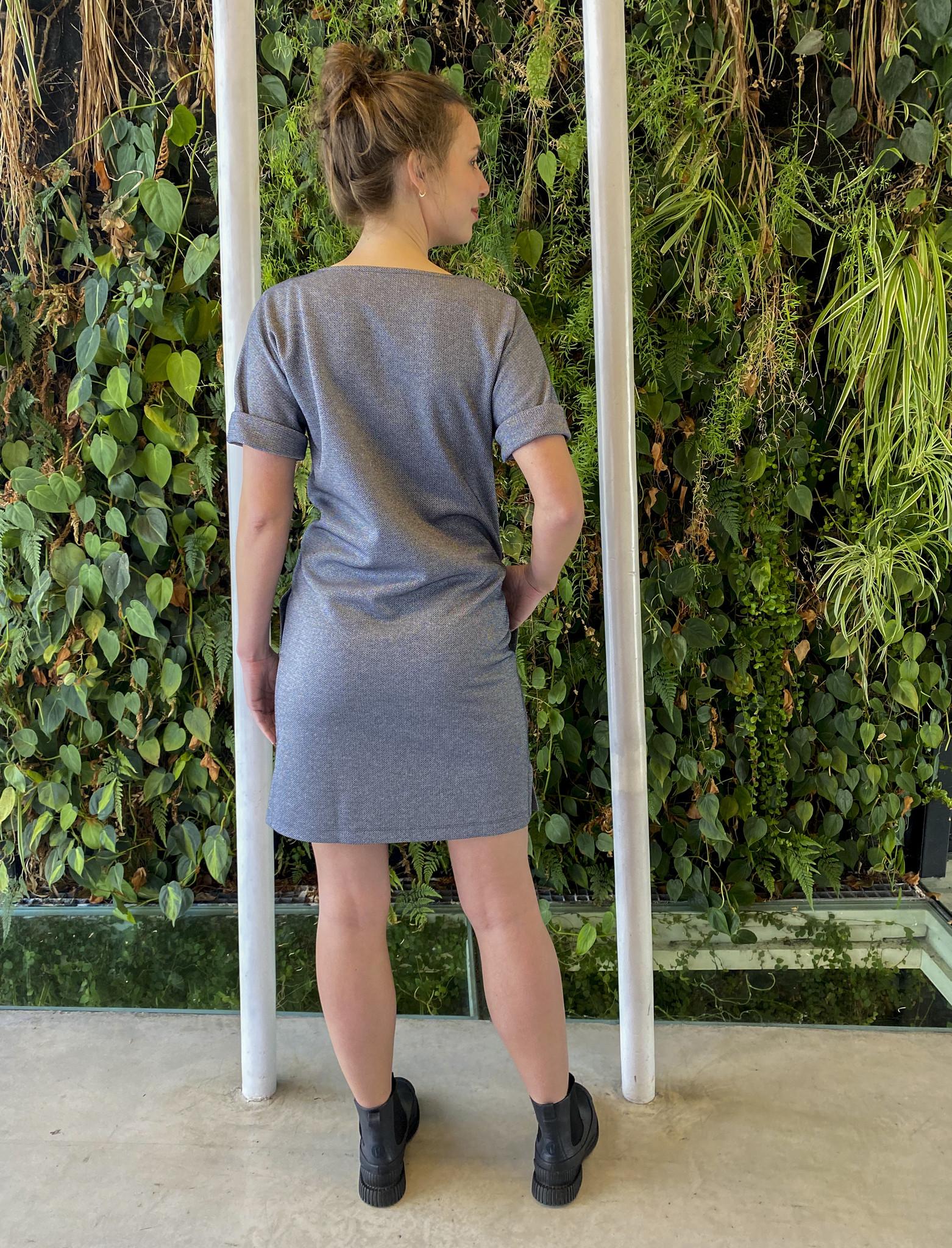 Round Pocket Dress Jeans Sparkle-5