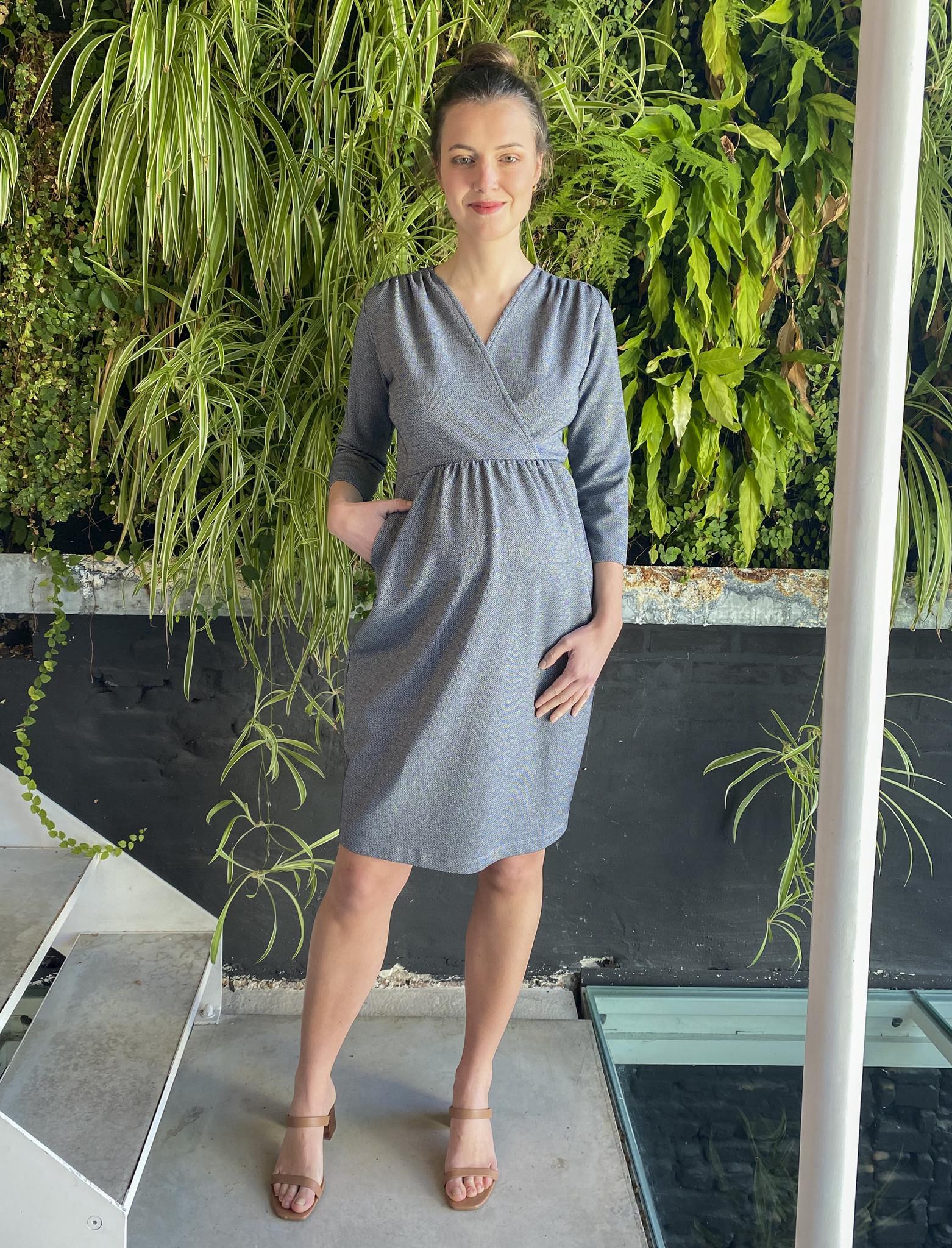 Comfy Dress 7/8 Sleeves Jeans Sparkle-1