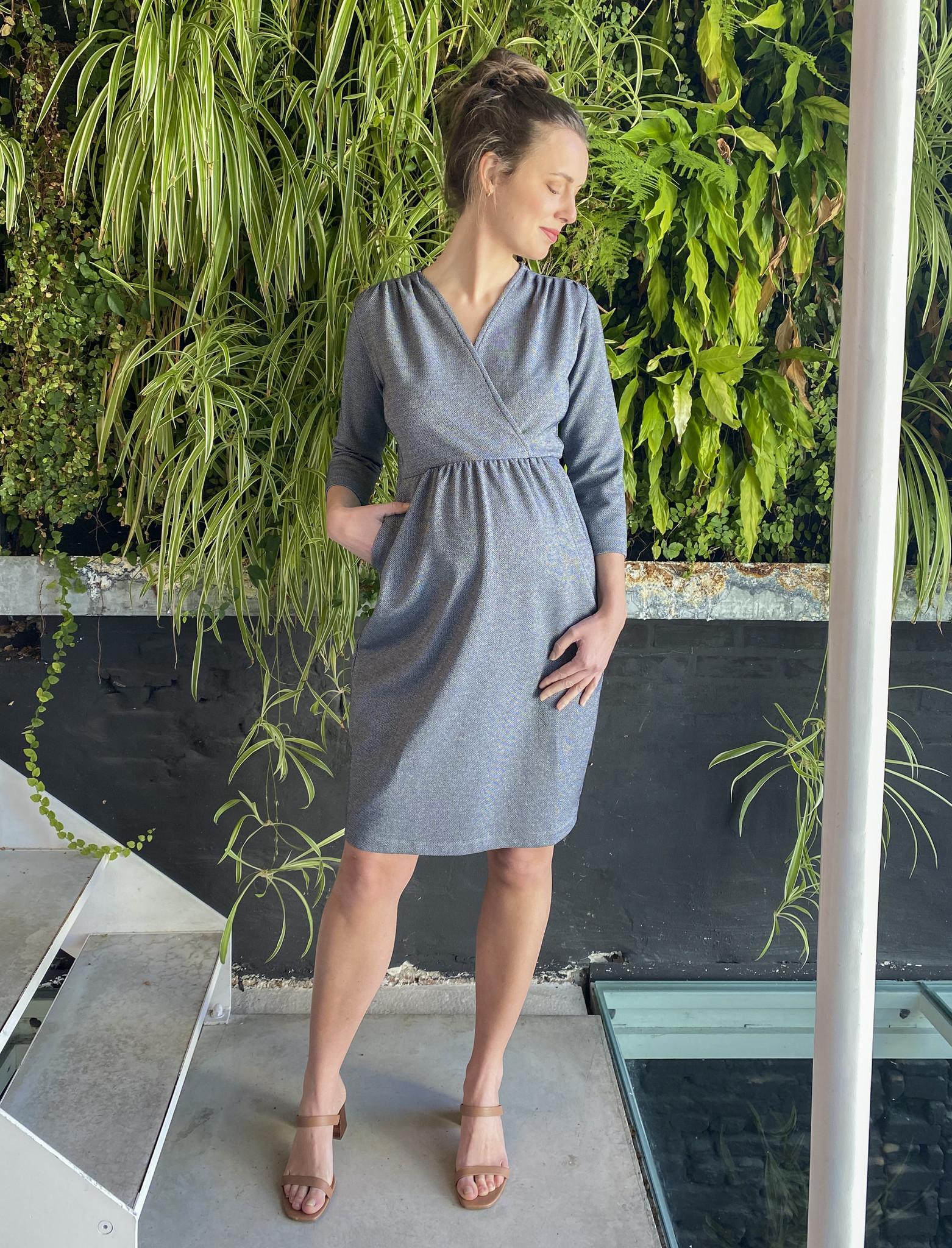 Comfy Dress 7/8 Sleeves Jeans Sparkle-5