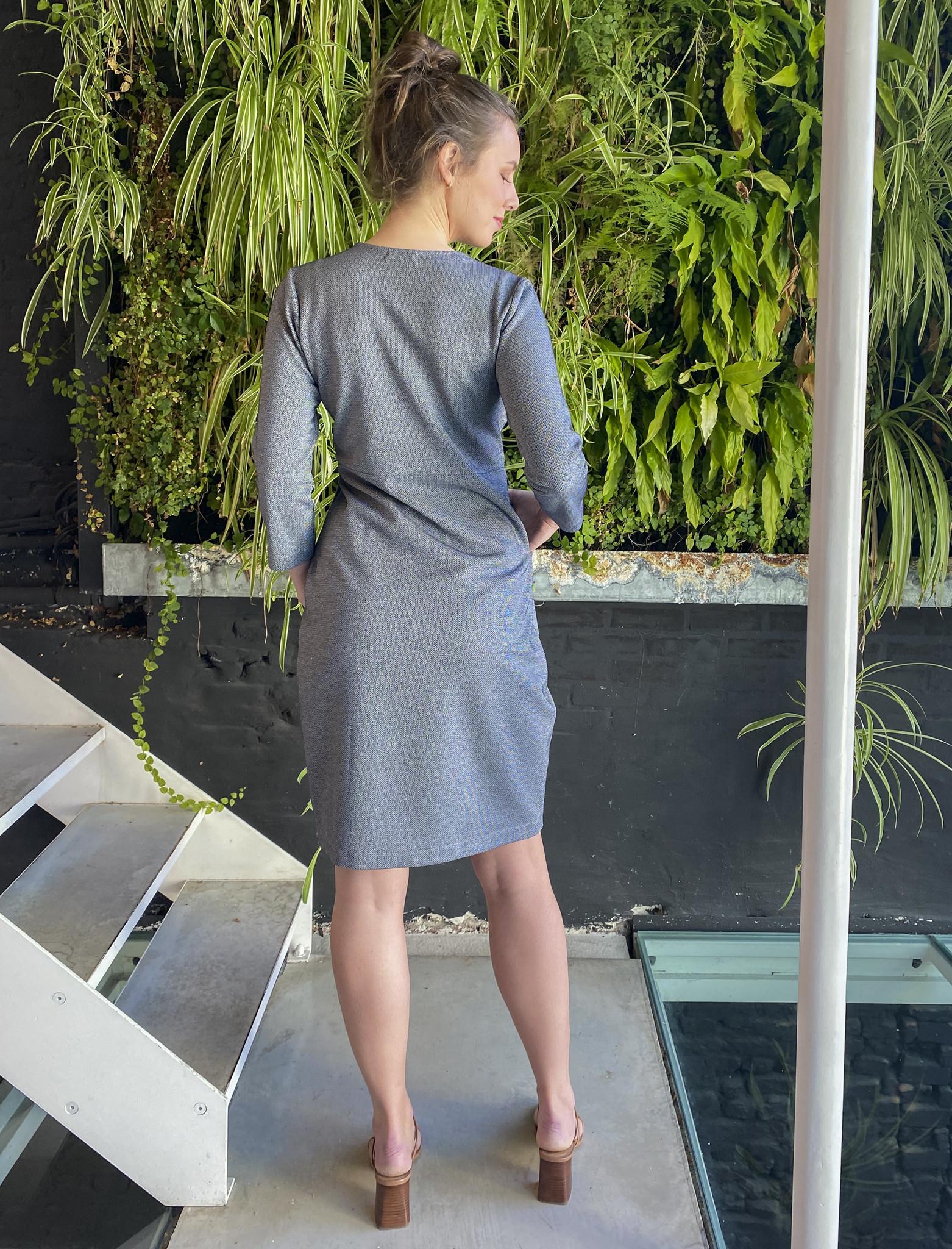 Comfy Dress 7/8 Sleeves Jeans Sparkle-3