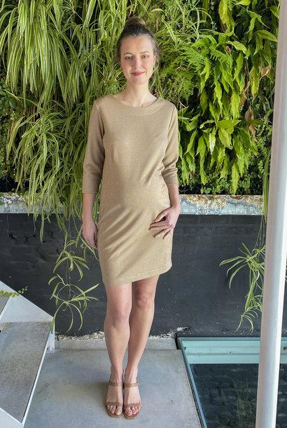 Soft Dress Beige Dots