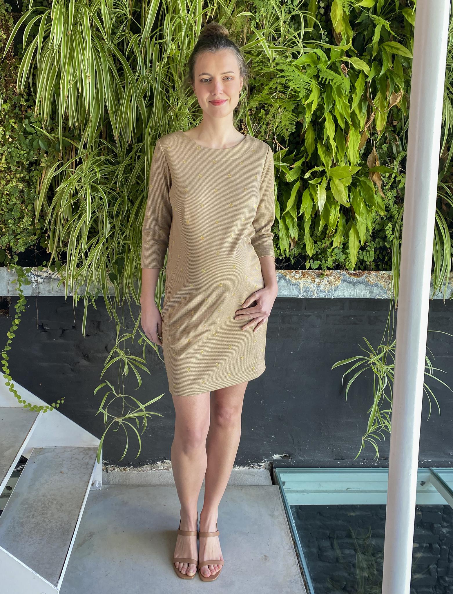 Soft Dress Beige Dots-1