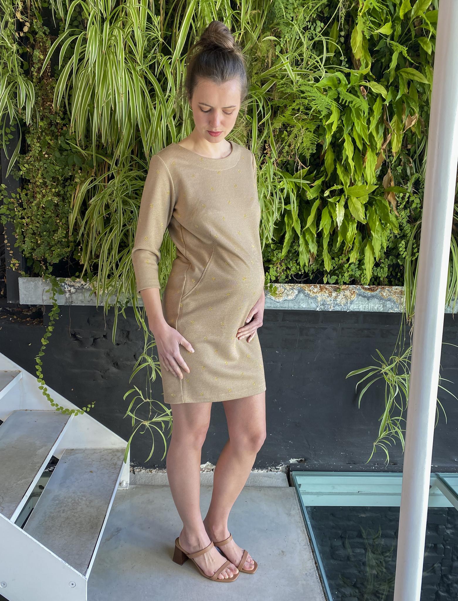 Soft Dress Beige Dots-2