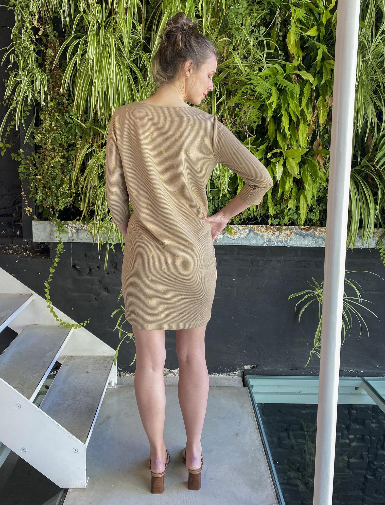 Soft Dress Beige Dots-3