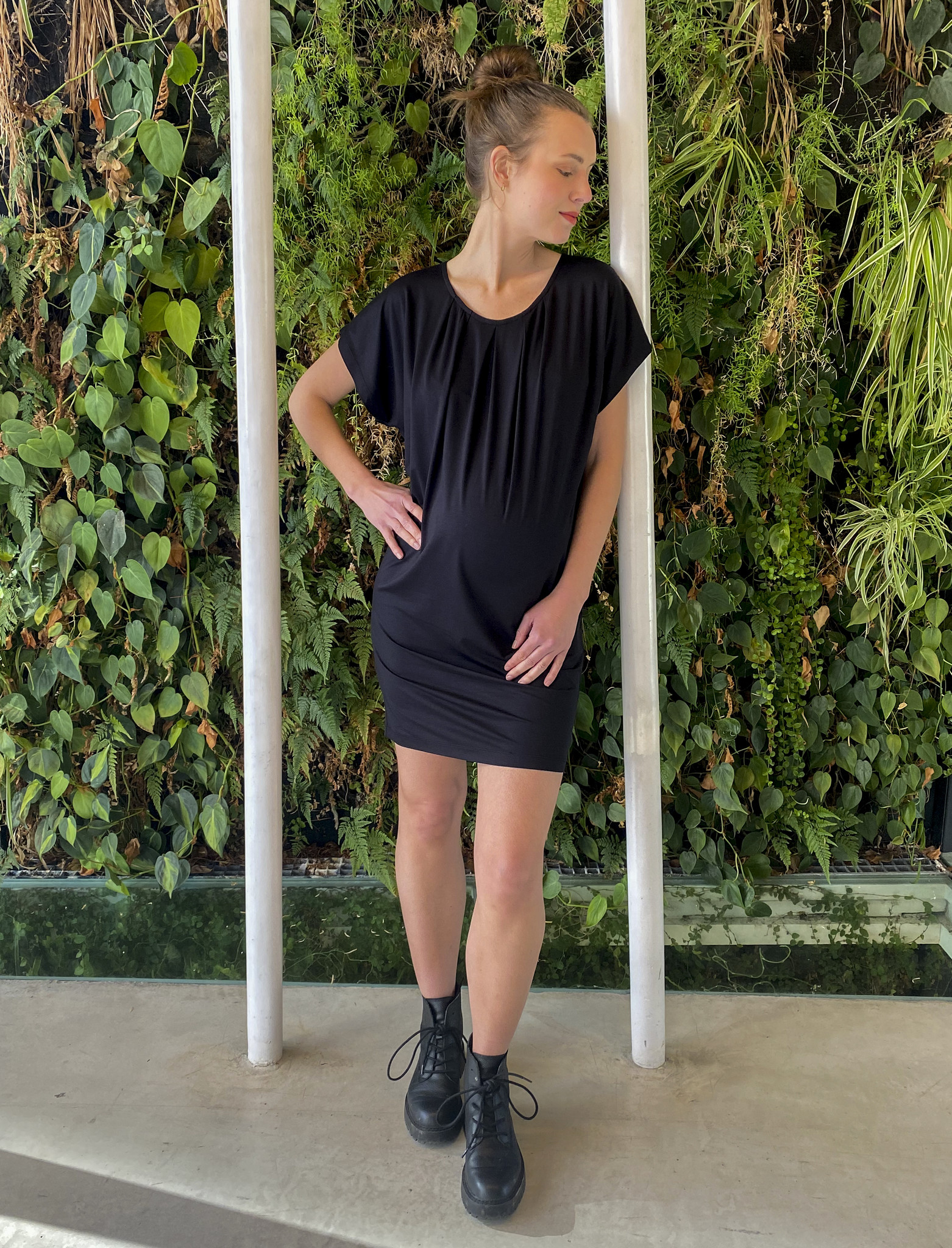 Roundneck Tunic  Black-1