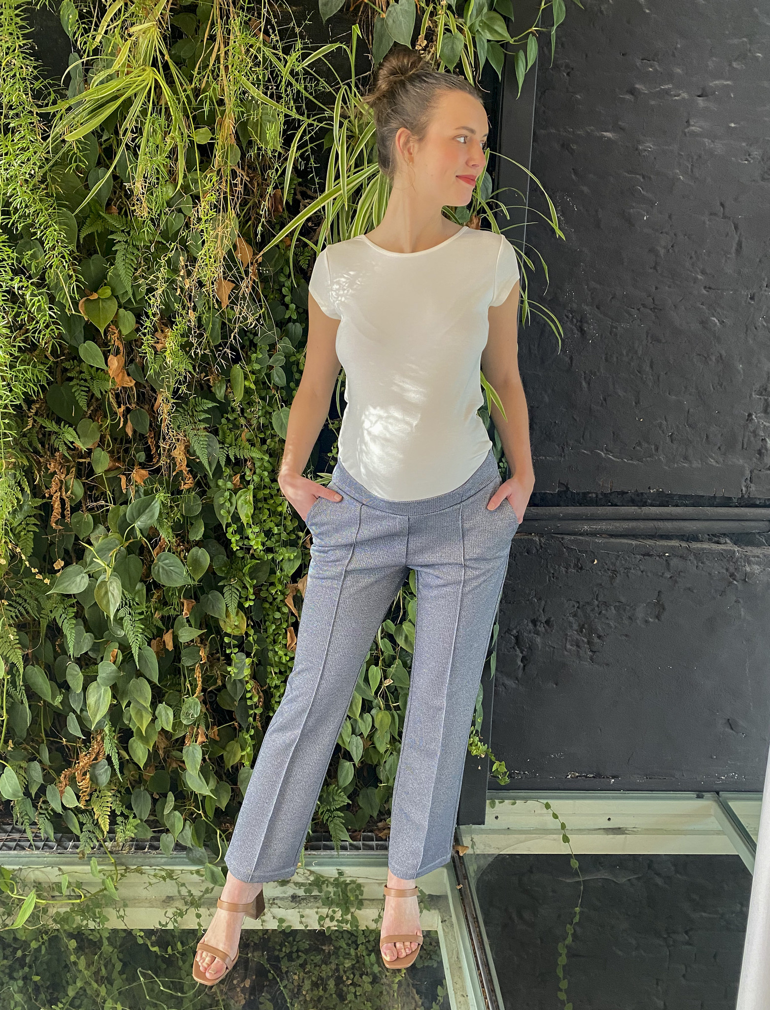 Easy Trousers Straight Fit Jeans Sparkle-1