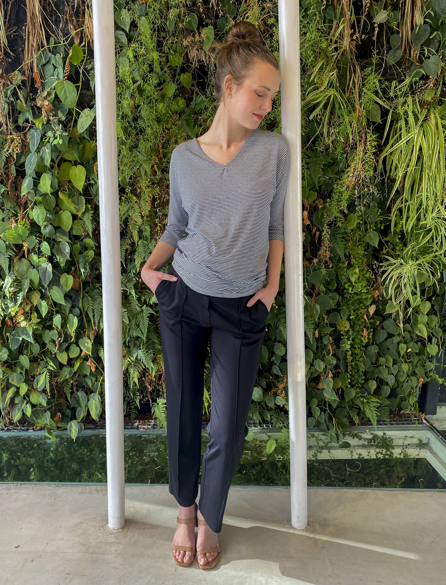 Easy Trousers Straight Fit Black-4