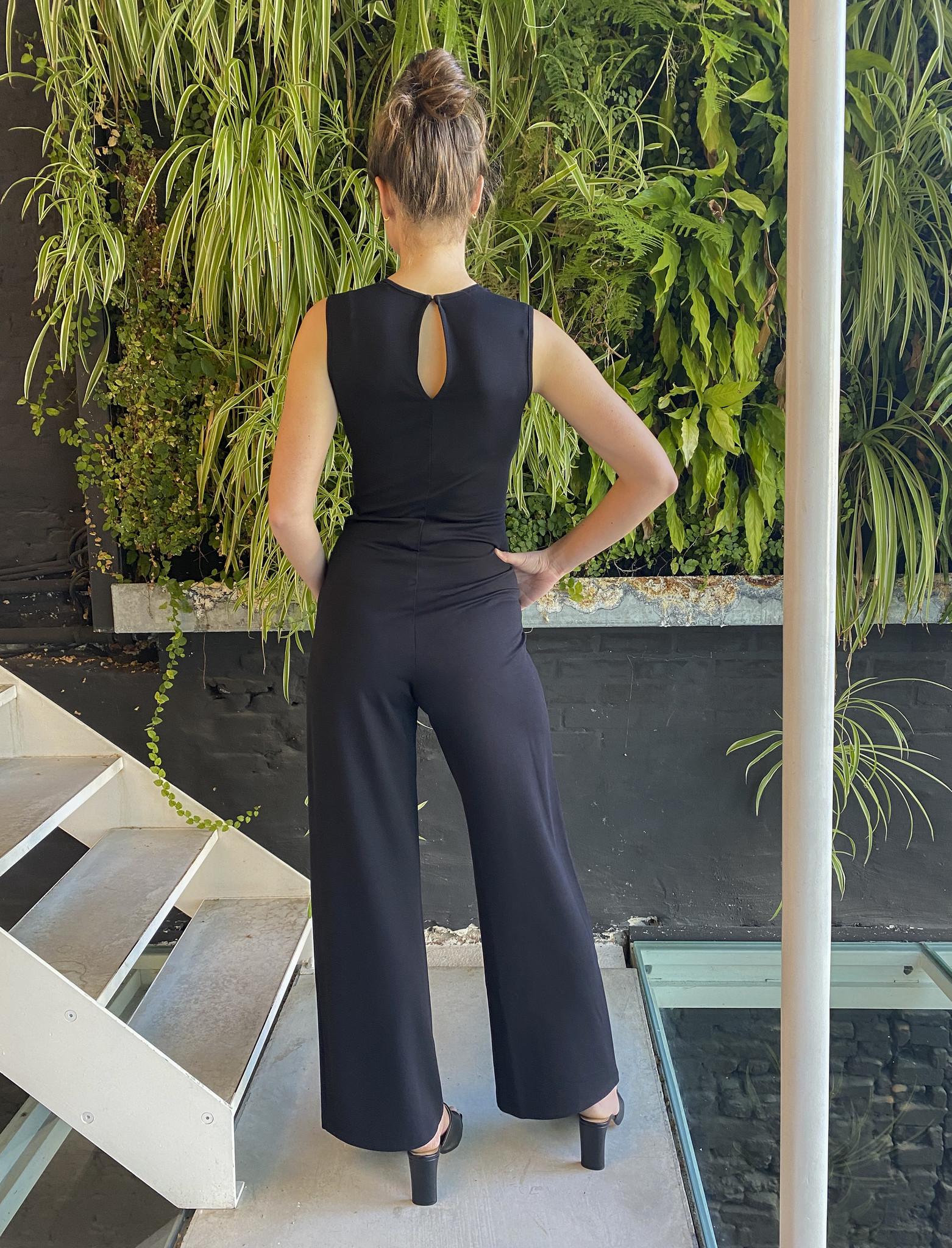 Long Jumpsuit Black-2