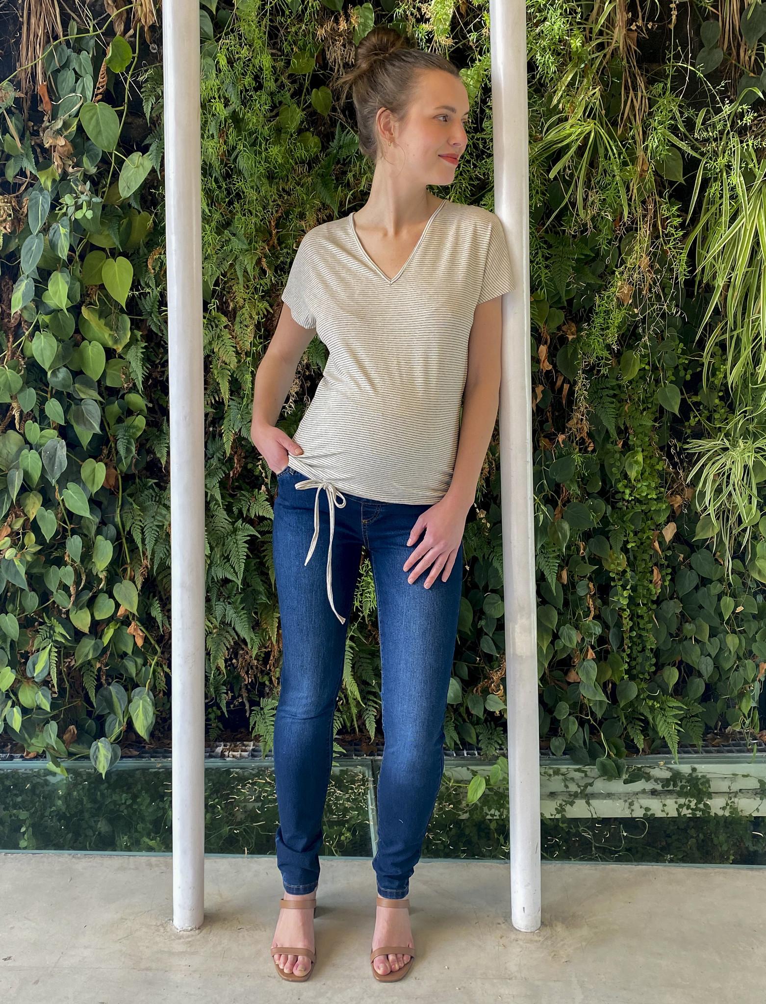 Skinny jeans - dark blue denim-1
