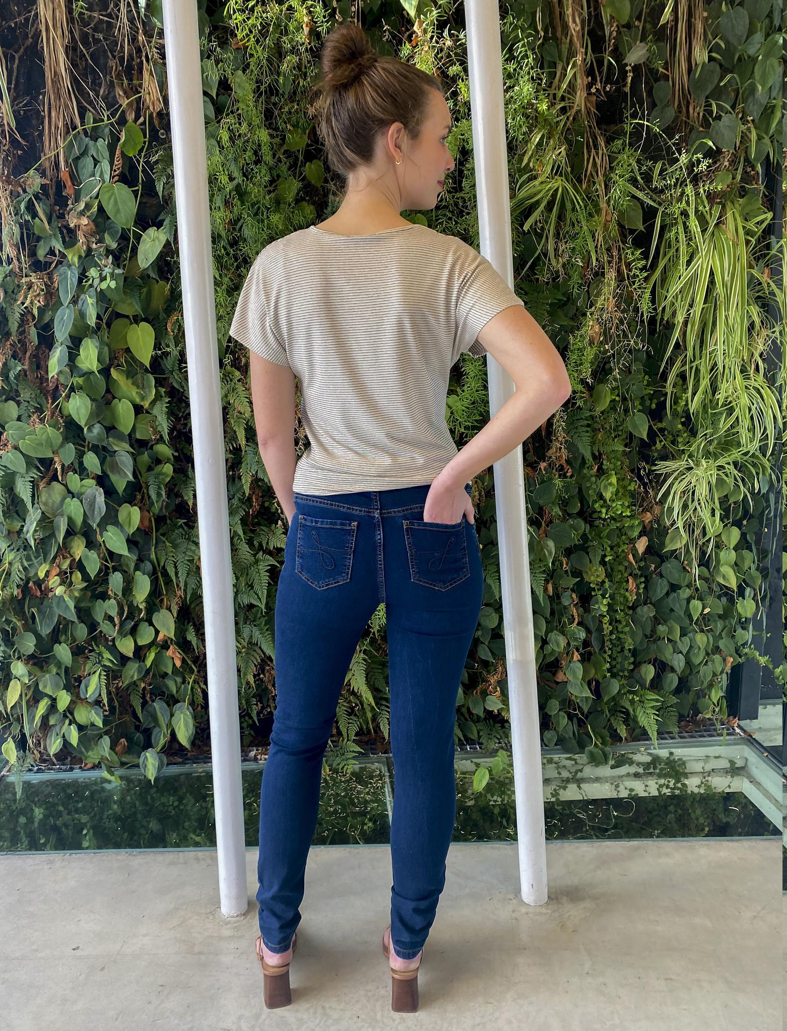 Skinny jeans - dark blue denim-3
