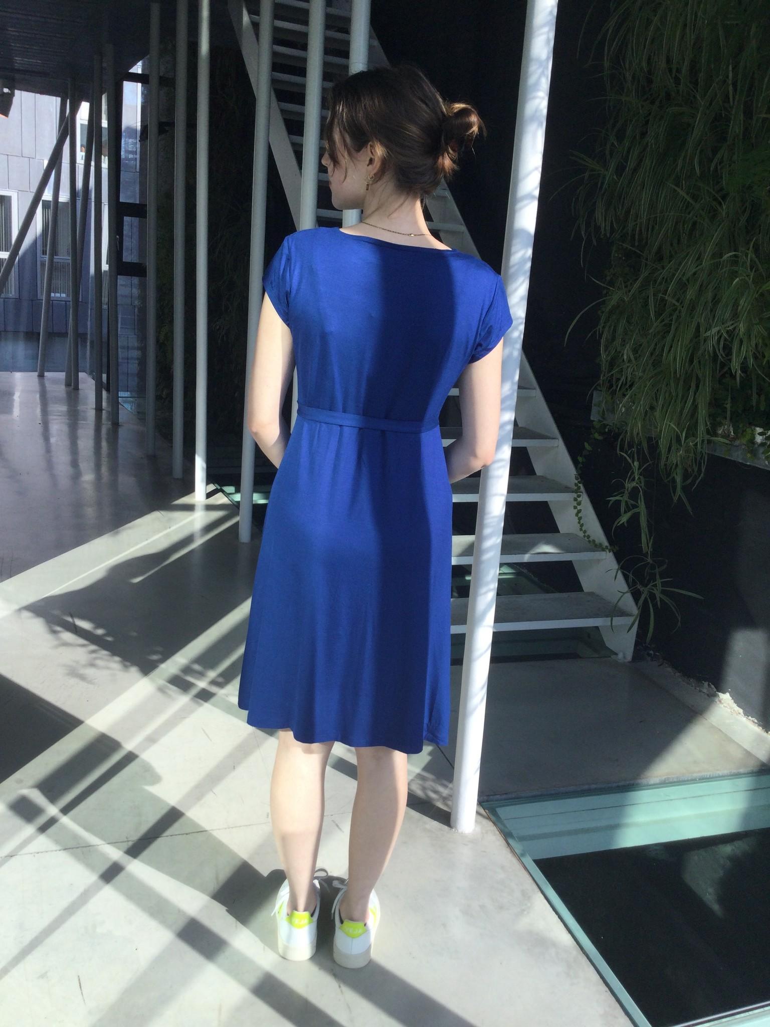 Pleated Dress Bleu-3