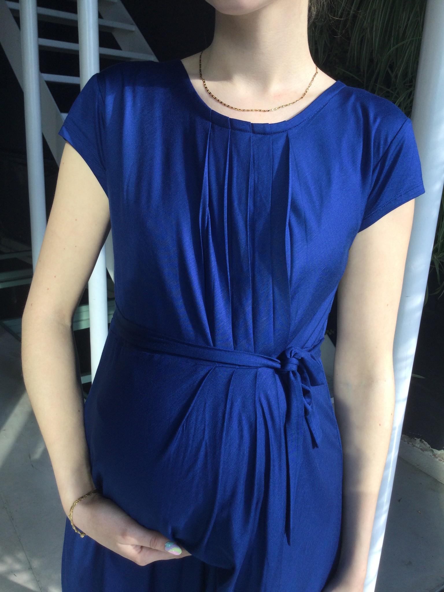 Pleated Dress Bleu-4