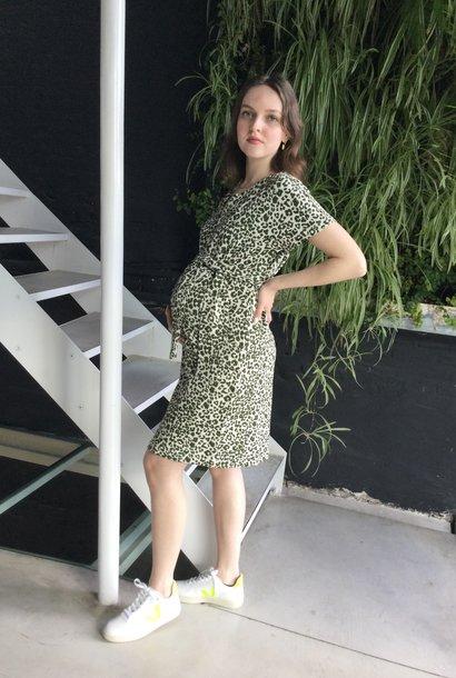 Belt Dress Animal Print