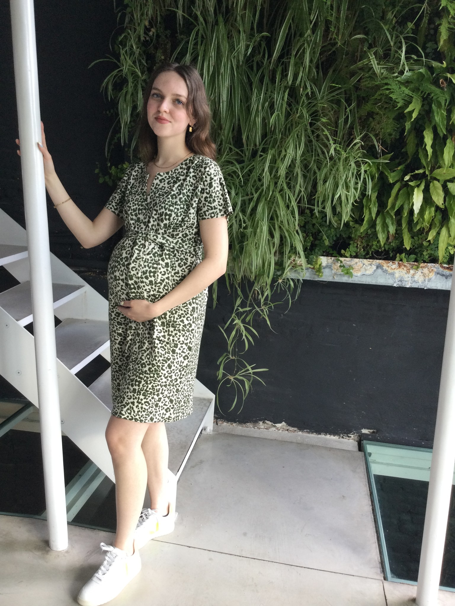 Belt Dress Animal Print-4
