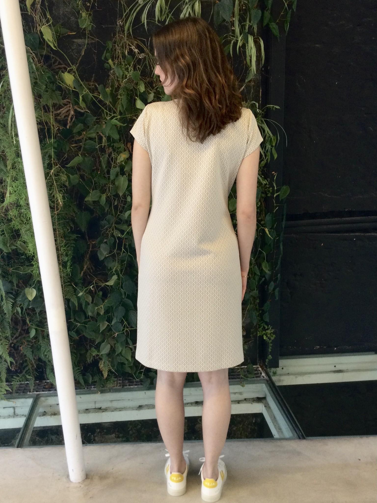 Slim Tunic Short Sleeves Ecru Patters-3
